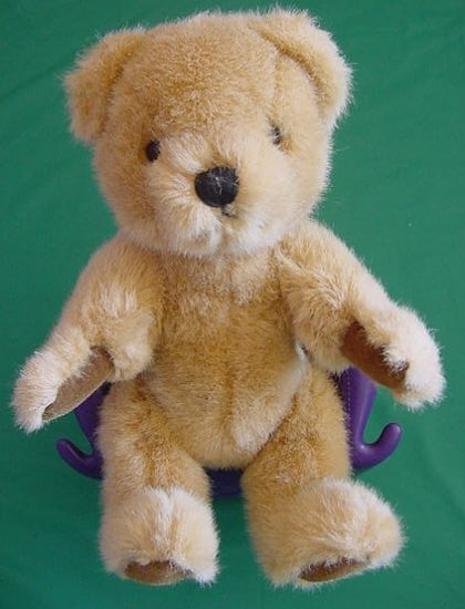 Jointed Sitting Light Brown Bear Stuffed Plush 10""