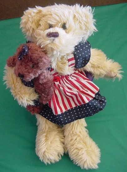 Oriental Trading Patriotic Dress Bear Stuffed Plush 12""