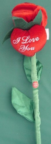 "Preferred Plush 12"" Talking I Love You Rose Stem Flower"