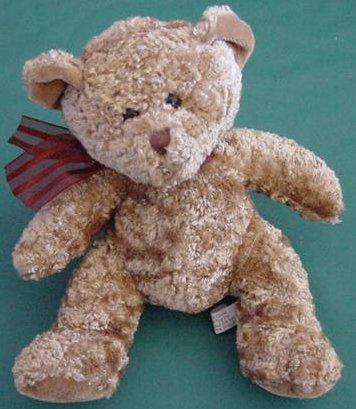 "Kel-toy Kellytoy Carmel Brown Bear Beanie Plush 5"""