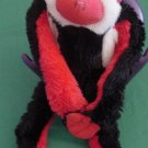Fiesta Velcro Hands Red Black Monkey Stuffed Plush 12""