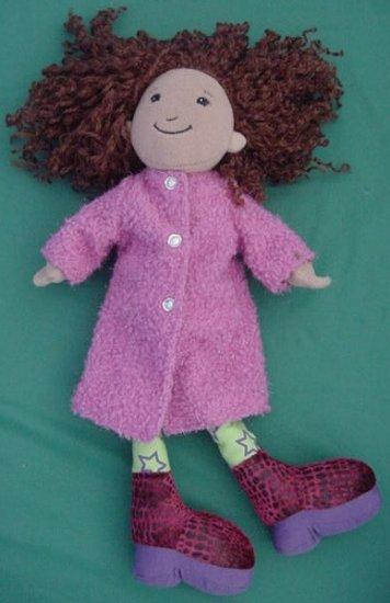 "Groovy Girls Solana Doll Pink Coat Stuffed Plush 12"""