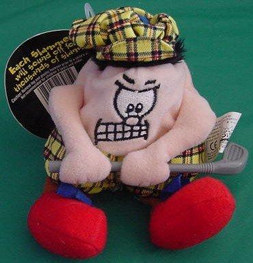 """Silly Slammers #33 McDuff Golfer Beanie Plush 4"""" Tag"""