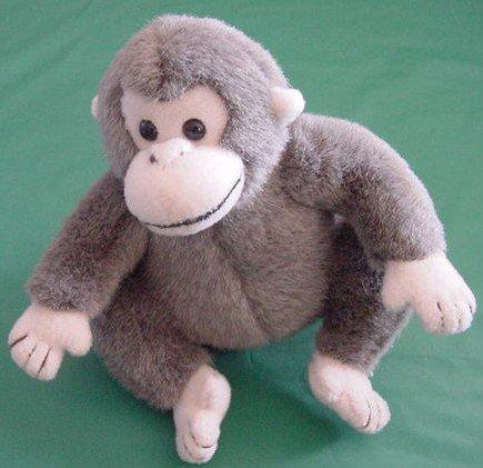 "Hershey's Chocolate Gray Monkey Stuffed Plush 6"""