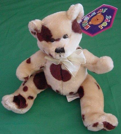 "Kuddle Me Toys Spotted Brown Bear Stuffed Plush 7"" Tag"