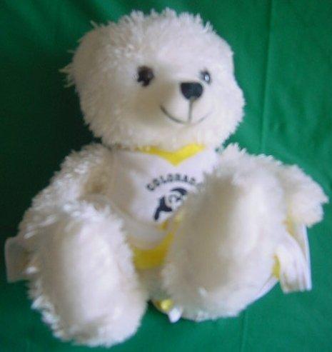 """Colorado University  Buffalos Cheerleader Bear Stuffed Plush 6"""""""