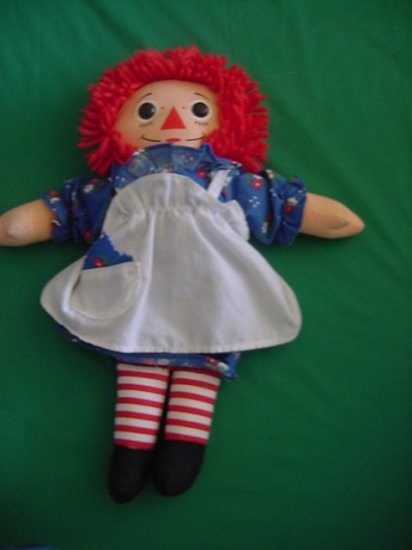 "Raggedy Ann Hasbro Stuffed Plush Doll 12"" 1996"
