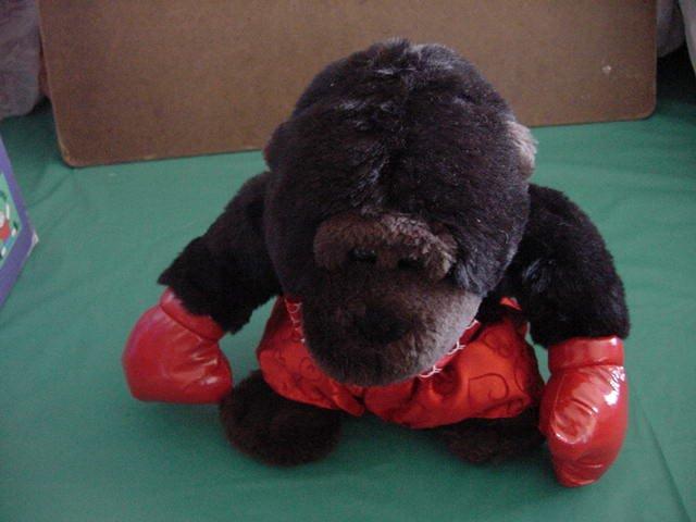 "DanDee Gorilla Boxer Heart Shorts Stuffed Plush 8"""