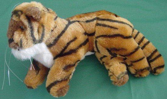 """Toy Works Bengal Tiger Basking Stuffed Plush 8"""""""