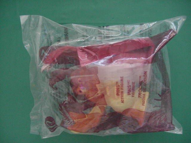 McDonald's Nickelodeon Tak #7 Pins in Bag