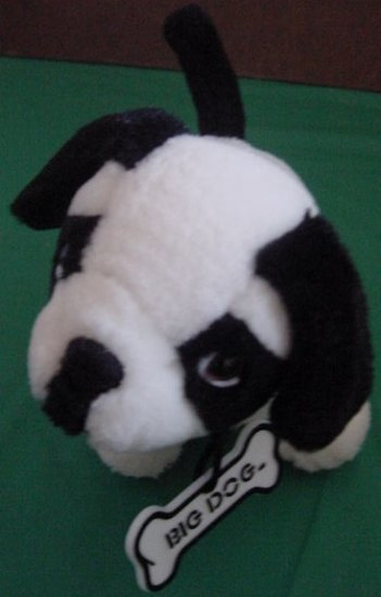 Big Dog Stores Black & White Dog Stuffed Plush Barks