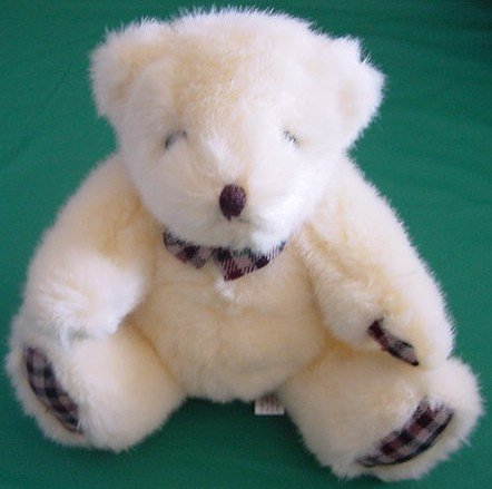 Circus Circus Casino Cream Bear Stuffed Plush 8""