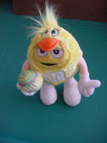 "M&M's Yellow Guy Easter Duck 2003 Stuffed Plush 8"""