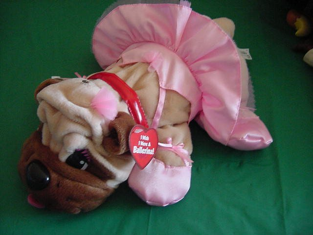 "Pound Puppies Ballerina Puppy Stuffed Plush 12"" Tags"