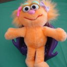 "Tyco Zoe Muppet Girl Monster Beanie Plush 6"" 1995"