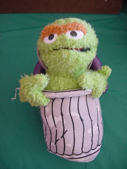 Oscar The Grouch TrashCan Monster Stuffed Plush TLC