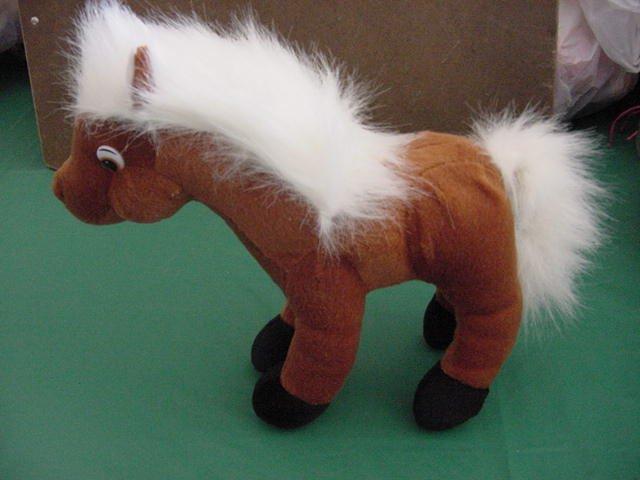 "Classic Toy Company Brown Horse Stuffed Plush 8"""