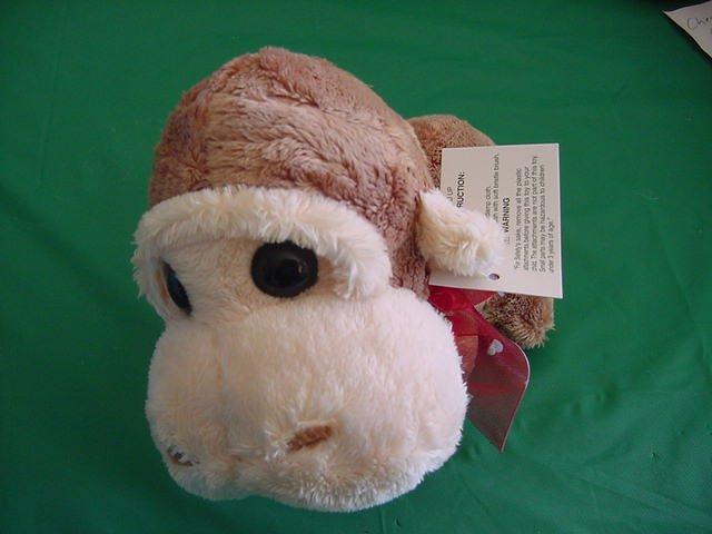 Wal-mart Brown Big Head I Love You Monkey Stuffed Plush
