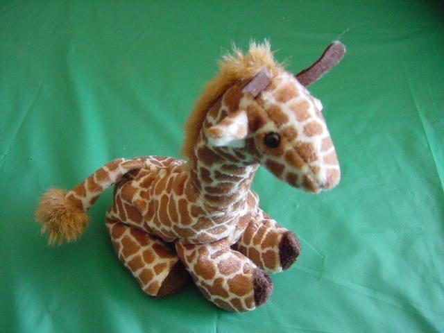 "Wildlife Artists Giraffe Beanie Stuffed Plush 5"""