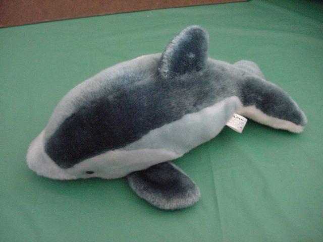 "Alfa Dolphin Porpoise Blue Stuffed Plush 12"""