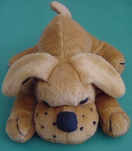 Everglow Brown Puppy Dog Beanie Stuffed Plush 6""