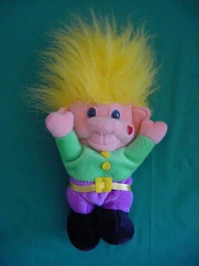 "Imperial Toy Co Yellow Hair Troll Stuffed Plush 8"""