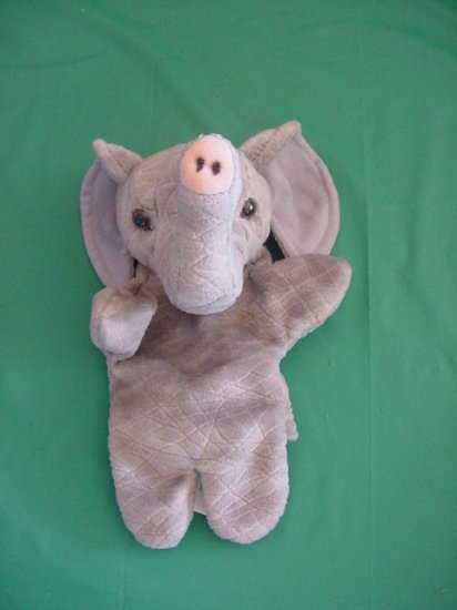 "Pier One Imports Elephant Hand Puppet Plush 7"""