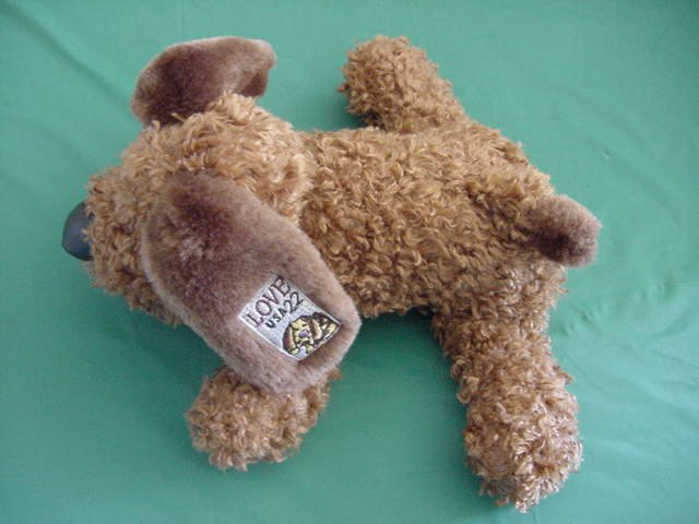 Post Office Brown Dog Love Stamp Stuffed Plush 8""