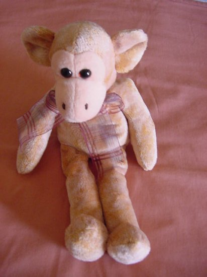 "Cute Soft Monkey No Tail Floppy Beanie Stuffed Plush 8"""