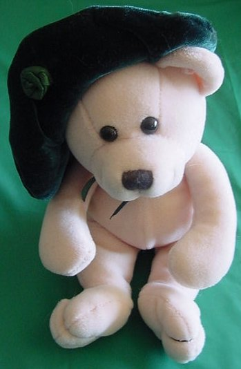"Fiesta Green Hat Lassies Bear Beanie Stuffed Plush 6"" TC Dawson"