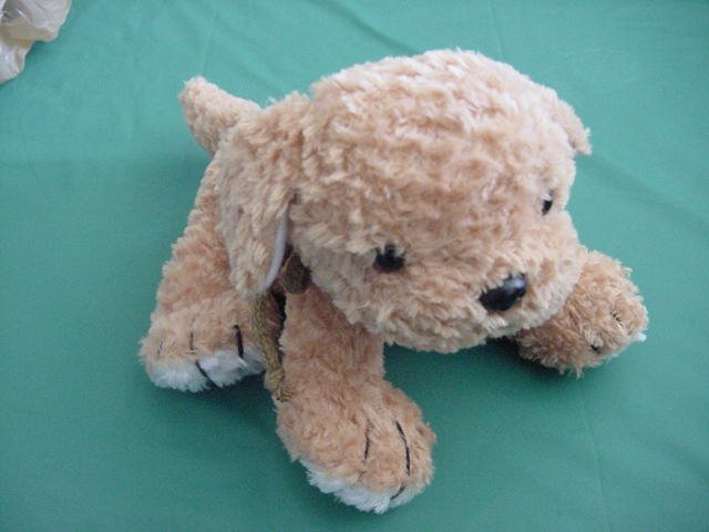 Plushland Golden Brown Dog Puppy Beanie Plush 2000