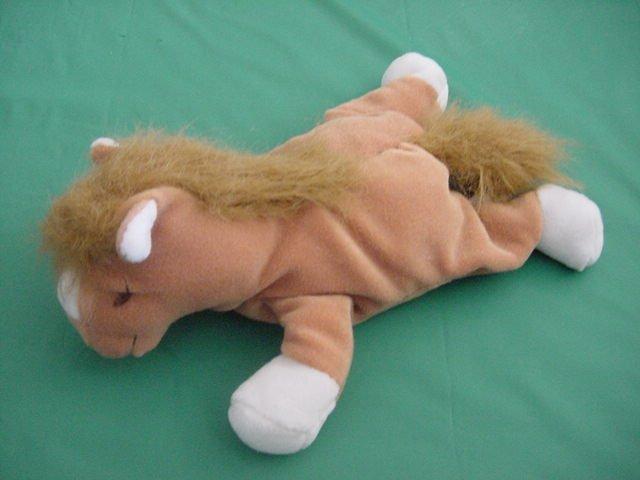"GMA Access Horse Pony Brown Beanie Plush 8"""