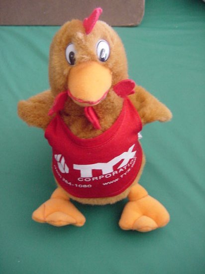 TYX Corporation Rooster Chicken Beanie Plush 7""