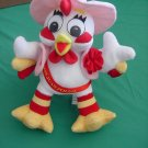 Miss Juan Pollo White Chicken? Rooster Stuffed Plush