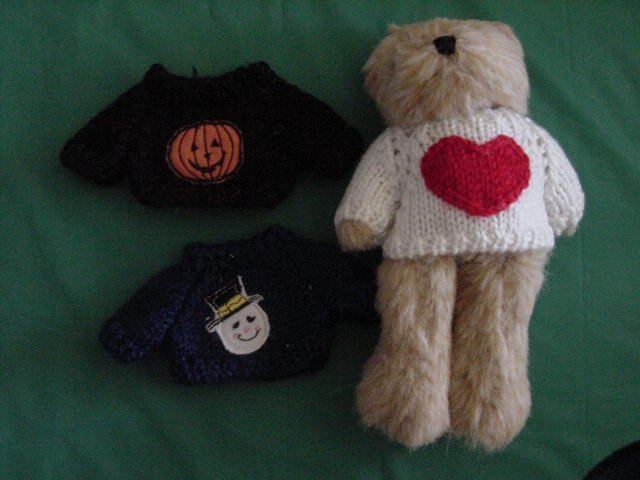 Global Innovations Bear with Sweaters Stuffed Plush 8""