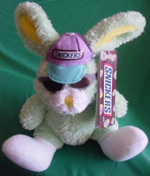 """Easter Snickers Green Bunny Stuffed Plush 6"""" Galerie"""