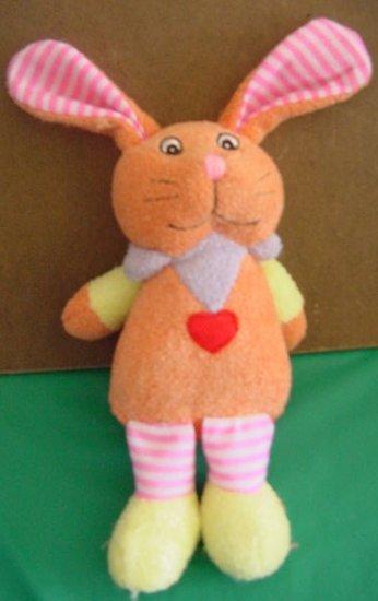 Dog Toy Squeaker Funny Orange Rabbit Stuffed Plush