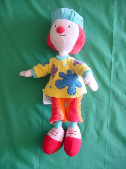 "Disney Jojo's Circus JoJo Beanie Plush 6"" Flower Shirt"