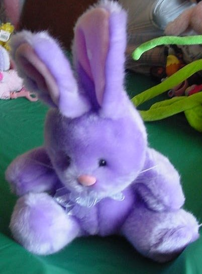 Easter Beverly Hills Purple Bunny Stuffed Plush 8""