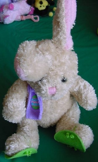 Easter Ready for Beach Bunny Rabbit Stuffed Plush 6""