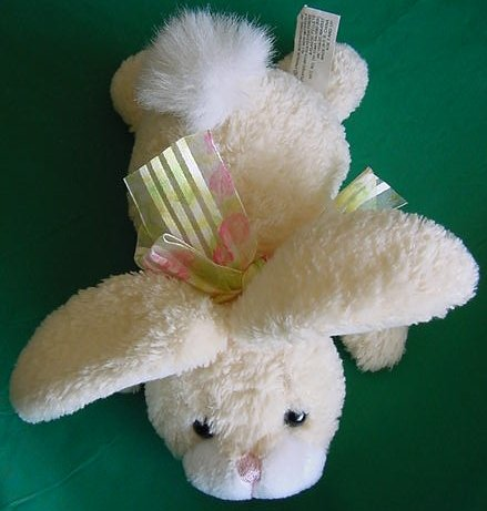 "Easter Light Yellow Bunny Beanie Plush 7"" Chosun"