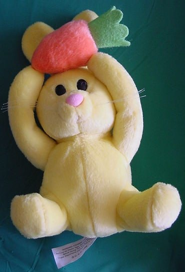 "Easter Yellow Bunny Carrot Stuffed Plush 6"" Galerie"