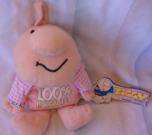 "Ziggy 100% Huggable Beanie Stuffed Plush 6"" Tag Kellytoy"