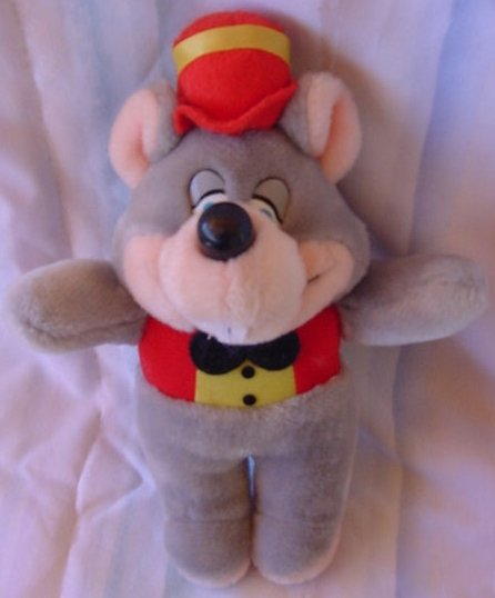 Chuck E Cheese Classic Rat Mouse 1994 Stuffed Plush 10""
