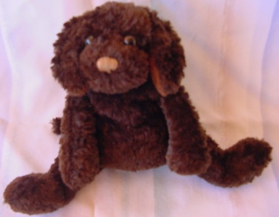 "Ganz L'il Charlie Dog Chocolate Brown Beanie Stuffed Plush 6"""