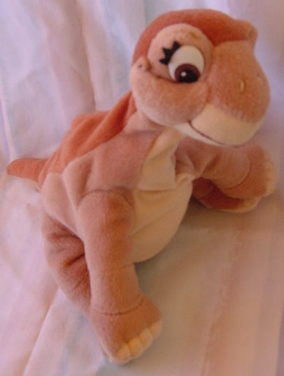 "Land Before Time Girl Dinosaur Stuffed Plush 8"" 1996"
