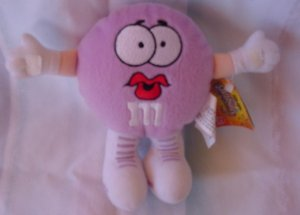 "M&M's Girl Swarmees Lisa Lilac Stuffed Plush 5"" Tag"