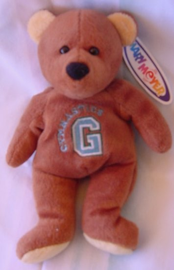 "Mary Meyer Gymnastics Bear Beanie Stuffed Plush 7.5"""