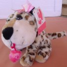 "Wal-mart Leopard I Love You Hearts Stuffed Plush 5"" Tag"