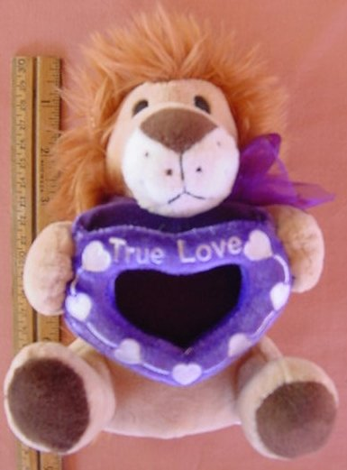 "Wal-mart Lion True Love Heart Frame Stuffed Plush 6.5"""